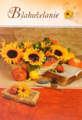 Pozdrav: Blahoželanie - bez textu (20-122) - s obálkou
