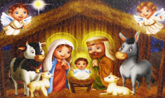 Obraz na dreve: Betlehem detský (9x15)