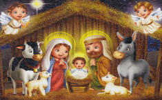 Obraz na dreve: Betlehem detský (13x21)