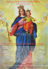 Obrázok: Pomocnica kresťanov (A5) - s modlitbou