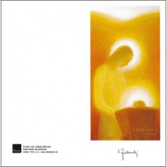 Pozdrav: Matka Božia nad jasličkami - bez textu (VP005) - s obálkou