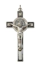Prívesok: Benediktínsky kríž - čierny (PZ003)