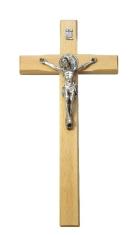 Kríž: drevený s Benediktínskou medailou (KVZ003) - 26 cm - prírodný
