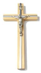 Kríž: drevený s lištou - prírodný 26 cm (KVZ008)