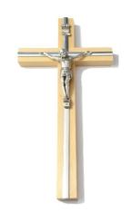 Kríž: drevený s lištou - prírodný 20 cm (KVZ007)
