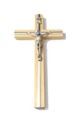 Kríž: drevený, s lištou 16 cm - prírodný (KVZ006)