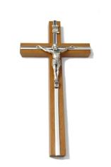 Kríž: drevený, s lištou 16 cm - hnedý (KVZ006)
