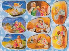 Samopelky - hárok (S22) vianočné