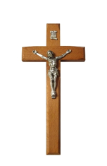 Kríž: drevený, frézovaný - hnedý (KVZ01 0)