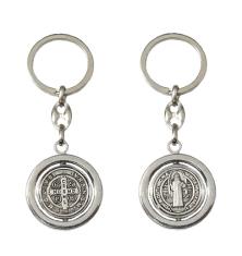 Kľúčenka kov. (K1910CS) - Benediktínska otočná - Priemer: 3,2 cm