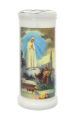 Kahanec: plastový s obrázkom Fatima - 15 cm