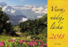 Kalendár 2018 (nástenný) Viera, nádej, láska
