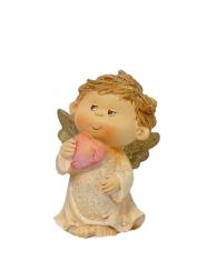 Anjel so srdcom - ružový (212001A)