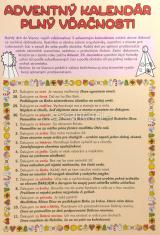Vystrihovačka: Adventný kalendár plný vďačnosti