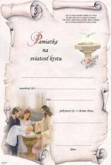 Pamiatka na sviatosť krstu (BI20859-3)