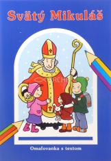 Svätý Mikuláš - omaľovanka s textom