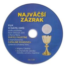 DVD - Najväčší zázrak - Film o Svätej omši
