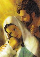 Obraz na dreve: Svätá rodina (80x50) - farebná