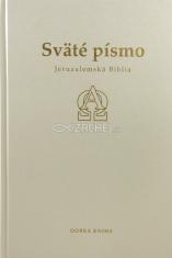 Sväté písmo - Jeruzalemská Biblia (biela so zlatorezom) s ilustráciami Stanislava Dusíka