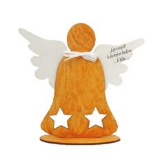 Anjel drevený s nápisom (ADZ005)