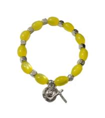 Náramok: s krížikom - žltý (B2B0327)