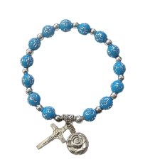 Náramok: s krížikom - modrý (BC104)