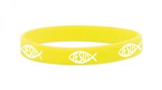 Náramok: JESUS, gumený - žltý (1532-11)