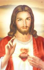Obrázok: Srdce Ježišovo (411/239) - s modlitbou, laminovaný