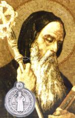 Kartička: Sv. Benedikt (RN03) - plastová