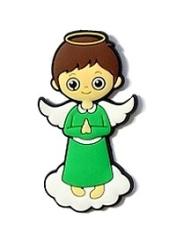 Magnetka: anjel - zelený, gumená (286)