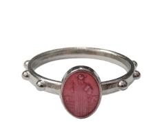 Prsteň kov. sv. Benedikt - ružový