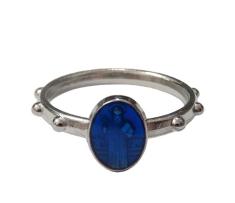 Prsteň kov. sv. Benedikt - modrý