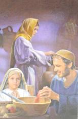 Obrázok: Svätá rodina (Z004) - Modlitba k sv. Jozefovi za rodinu, laminovaný