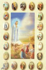 Obrázok: Panna Mária Ružencová (Z003) - s modlitbou, laminovaný