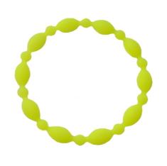 Náramok: desiatok, gumený - žltý (2106-1)