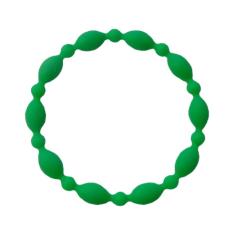 Náramok: desiatok, gumený - tm. zelený (2106-1)