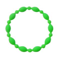 Náramok: desiatok, gumený - bl. zelený (2106-1)