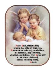 Magnetka: Dvaja anjeli, drevená (1243B)