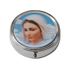 Krabička: na ruženec, kovová (KRZ004PMM) - Panna Mária Medžugorská