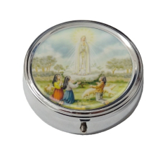 Krabička: na ruženec, kovová (KRZ004PMF) - Panna Mária Fatimská