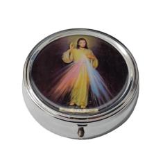 Krabička: na ruženec, kovová (KRZ004BM) - Božie milosrdenstvo