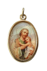 Medailón (MEZ001) zlatý - sv. Jozef