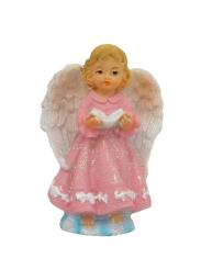 Anjel s knihou - ružový (5505)