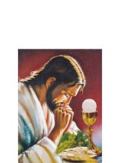 Obraz na dreve: Pán Ježiš s kalichom (30x20)