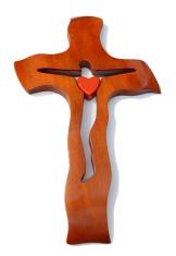 Kríž: drevený, čerešňa - malý (234c)