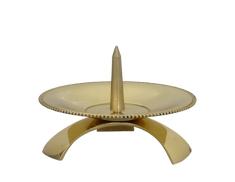 Svietnik: kovový - zlatý (CA1053B)