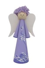 Anjel drevený - fialový (ADZ007)