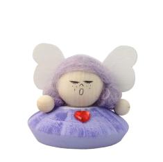 Anjel drevený - fialový (ADZ006)