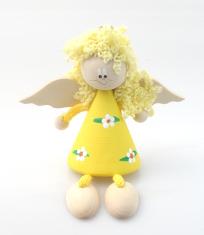 Anjel drevený (ADZ011) - žltý