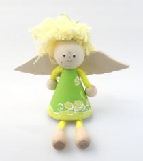 Anjel drevený (ADZ008) - zelený